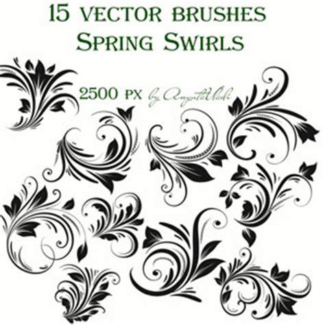 vector pattern brushes photoshop spring swirls vector brushes photoshop brushes