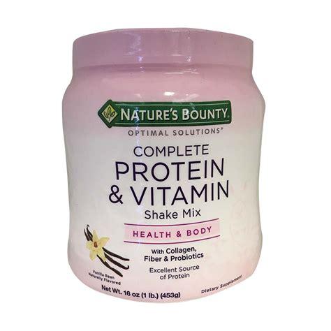 protein vitamins nature s bounty complete protein vitamin shake mix