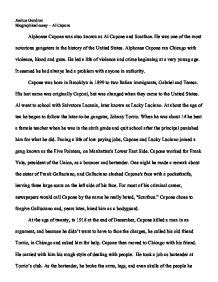 Al Capone Essay by Biographical Essay Al Capone Gcse Marked By Teachers