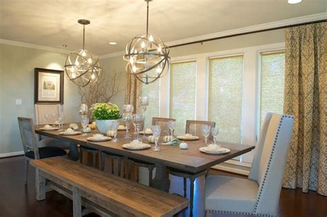 Fascinating Orb Chandelier For Amazing Interior Terrific Farmhouse Dining Room Lighting