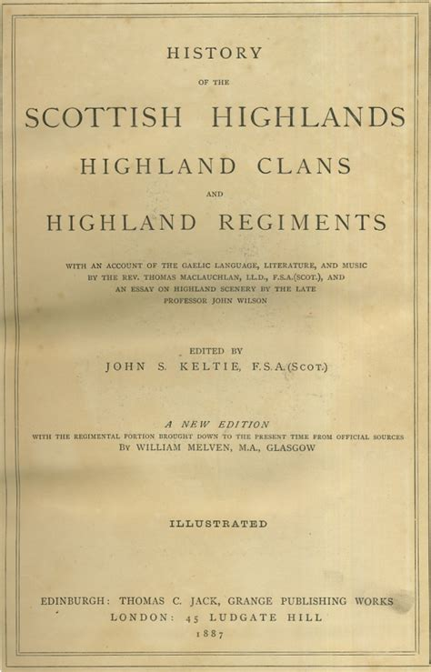 Scotland Records History Of The Scottish Highlands Highland Clans And Scottish Regiments