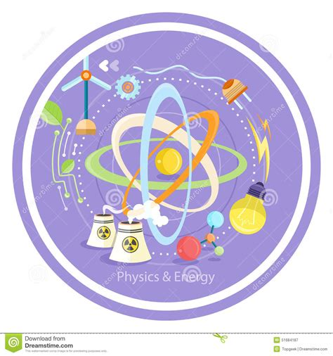 imagenes virtuales y reales fisica energ 237 a de la f 237 sica ilustraci 243 n del vector imagen 51684187