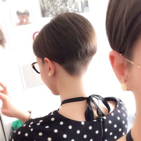extreme haircuts houston tx pixie cut with shaved side rear view apexwallpapers com