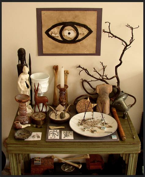Wiccan Home Decor by Altar By Obleakpattern On Deviantart