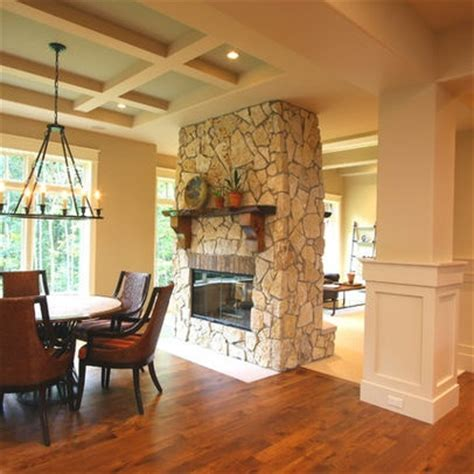 Fireplace Between Two Rooms by 1000 Ideas About Sided Fireplace On
