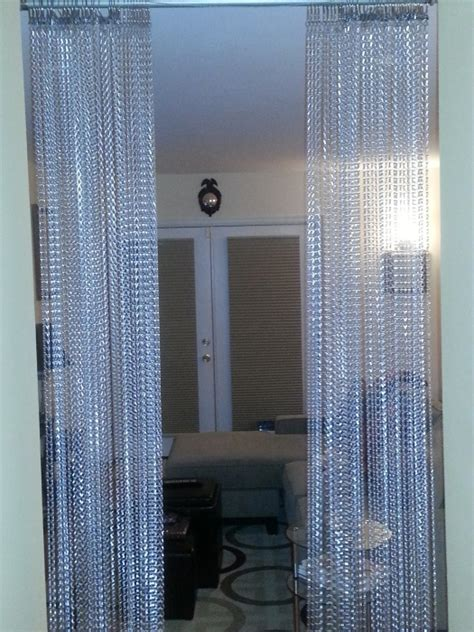 chain curtains for doors silver metal chain beaded curtains shopwildthings com