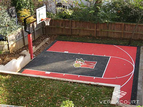 small basketball court in backyard backyard mini basketball court landscaping gardening ideas