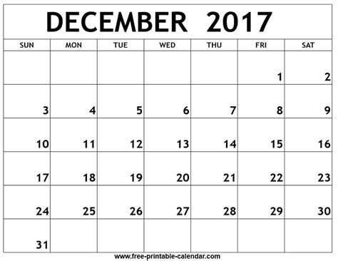 printable calendar by week 2017 december 2017 week by week calendar printable calendar
