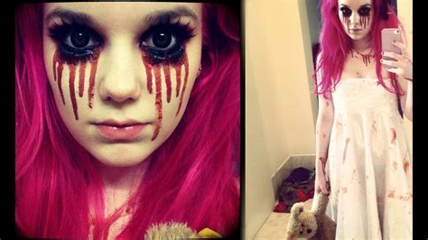 creepy  girl halloween makeup tutorial youtube