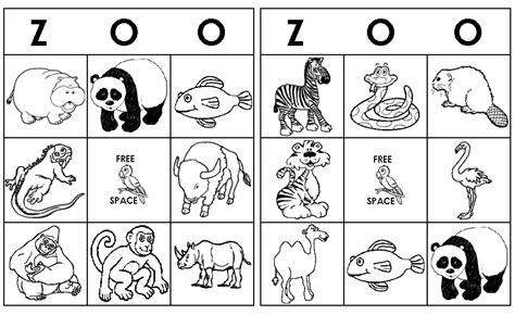 printable zoo animal bingo cards zoo bingo wild animals craft pre pinterest zoos