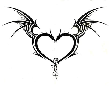 dragon heart tattoo designs tribal tattoos on tattoos tattoos