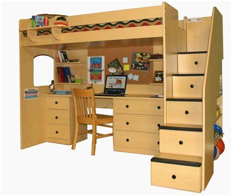 Loft Beds Computer Desk Loft Bed With Desk Casual Cottage