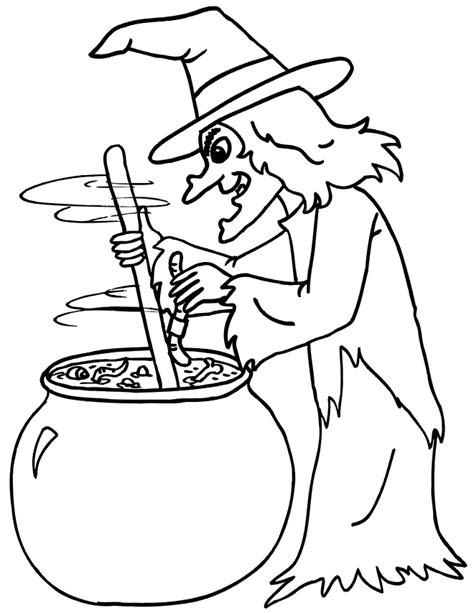 witch coloring pages free printables for kids