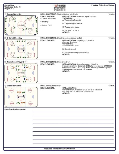 blank hockey practice plan template search results for blank basketball practice plan