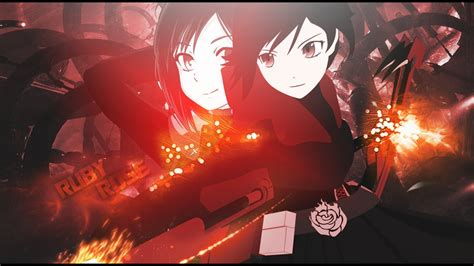 Kaos Anime Rwby Ruby 02 rwby ruby wallpaper www imgkid the image kid has it