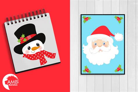 Photoshop Card Templates Place Faces Into Reindeer by Faces Clipart Santa Clipart