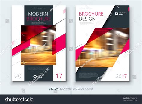 Brochure Modern Design by Pink Corporative Business Annual Report Brochure Stock