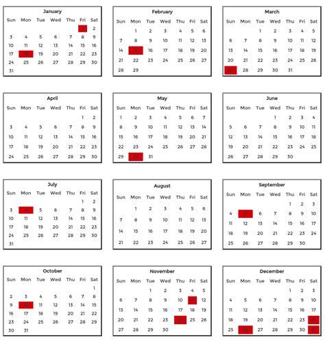Kalender 2016 Liste 2016 Bank Holidays