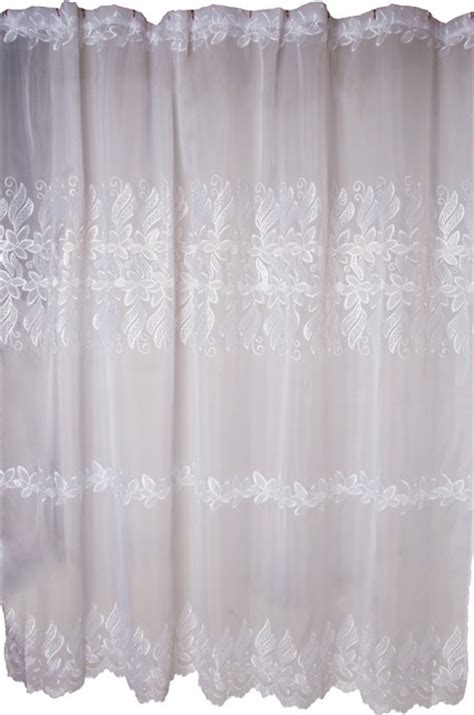Lace Shower Curtains Lace Shower Curtain Floral Embroidered 72x72 Traditional Shower Curtains By The