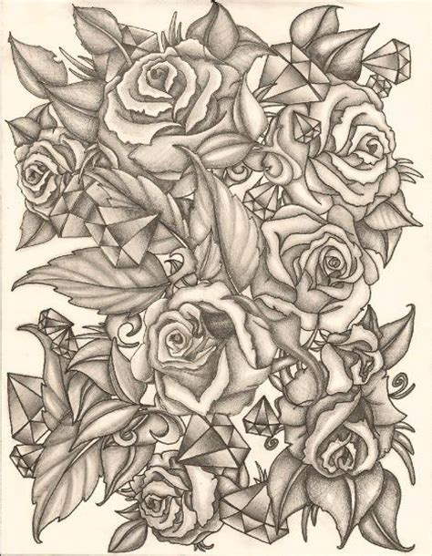tattoo sketch paper half sleeve tattoo designs roses rose sketch pencil for
