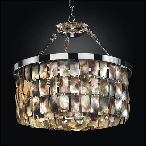 Mother Of Pearl Pendant Light Malibu 618 Pearl Chandelier