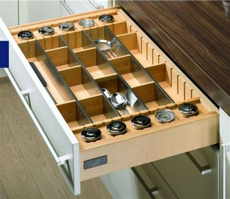 portaposate per cassetti portaposate deluxe in acciaio e legno