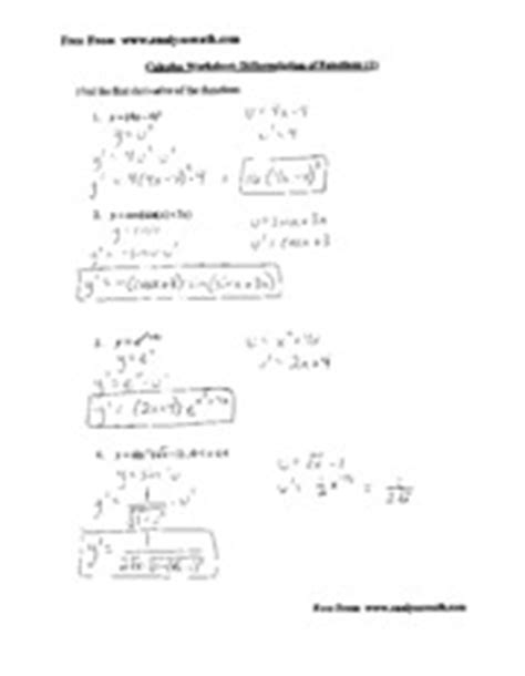 Definite Integral Worksheet by U Substitution With Definite Integrals Worksheet Tutor