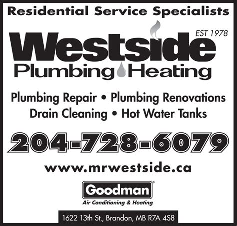 Westside Plumbing by Westside Plumbing Heating Brandon Ltd Brandon Mb