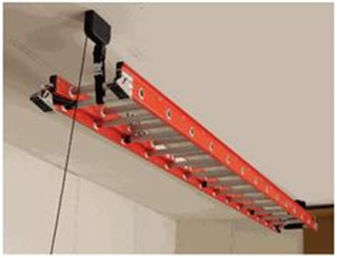 Ladder Storage Racks For Garage by 1000 Images About Overhead Storage On