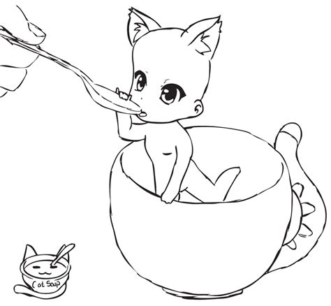 Cat L Base by The Gallery For Gt Wolf Lineart Ms Paint