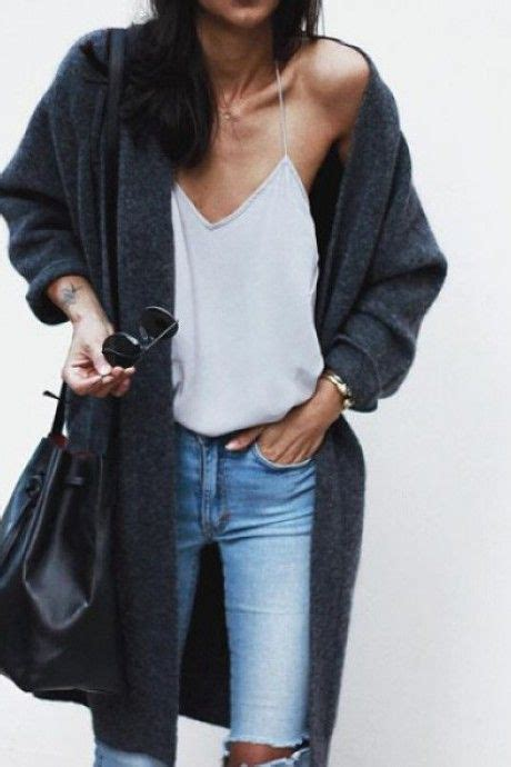 Trend Worth Trying White Gray Sweaters by Style White Top Grey Cardigan