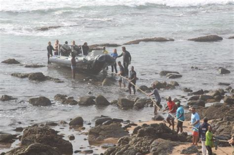 boating accident umkomaas just in one dead as boat capsizes off umkomaas south