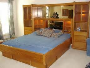 bedroom set pier pierwallbedroomset arbek the grandview collection oak pier