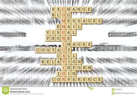 information desk sign crossword communication stock photos image 31055043