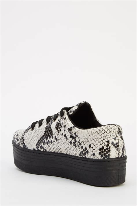 animal print lace up platform shoes pitonato just 163 5