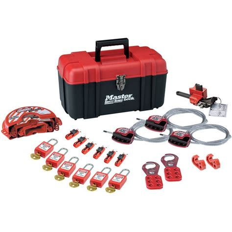 master cadenassage masterlock electrical mechanical lockout kit