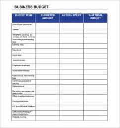 Business Plan Expenses Template by Business Budget Template 13 Free Documents In
