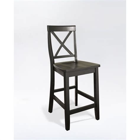 black bar stools counter height 24 quot x back counter stool in black finish cf500424 bk