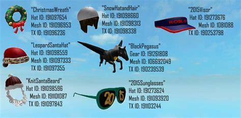 roblox hat id codes roblox leaks ftw on twitter quot gear and hat ids from