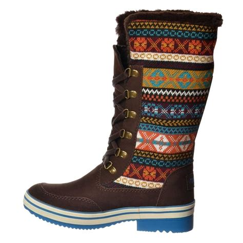 tribal pattern winter boots ladies girls rocket dog suri winter snow boot tribal