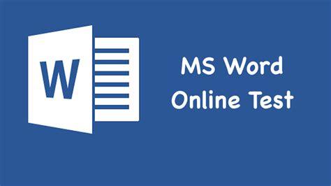 ms word  test  ms word mock test  ms word quiz