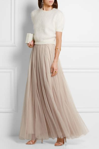 needle thread tulle maxi skirt net a porter