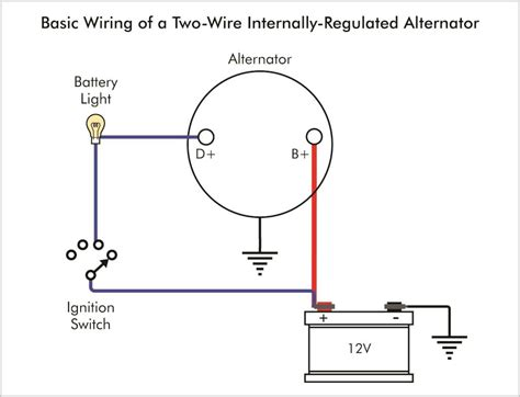 three wire alternator wiring diagram gooddy org