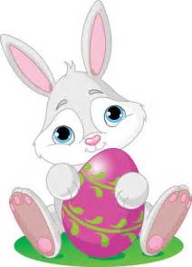 Easter bunny and eggs vectors