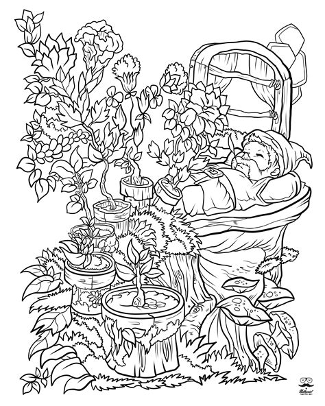 flower coloring book floral digital version coloring book