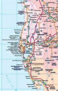 detailed map of west coast of florida florida road map florida backroads travel has 9 of them