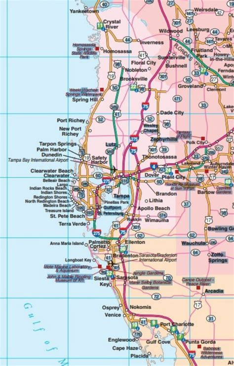 central florida florida road map florida backroads travel has 9 of them