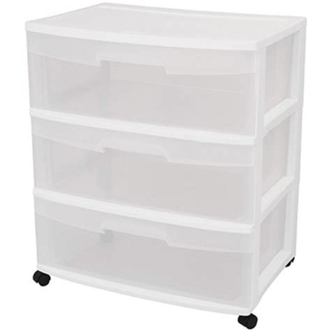 sterilite 3 drawer wide cart dimensions sterilite wide 3 drawer cart by sterilite at mills fleet farm