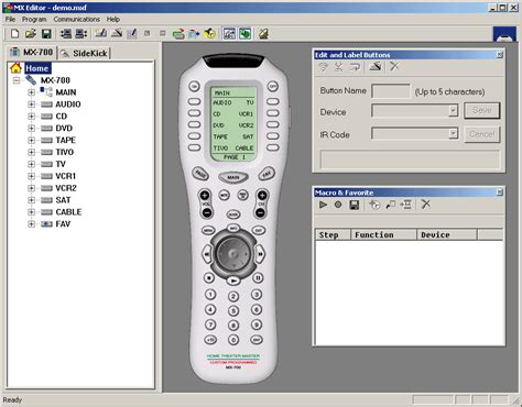 Remote Mba Programs by Mx 700 Remote Mx Editor Software Programming Audioholics