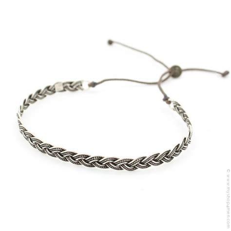 Bracelet tresse en argent vieilli   MyShop4Men